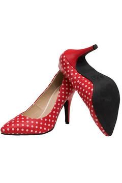 Shoptiques Product: Red Polka Dot Heel