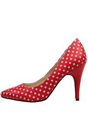 T.U.K. Shoes Red Polka Dot Heel - Product Mini Image