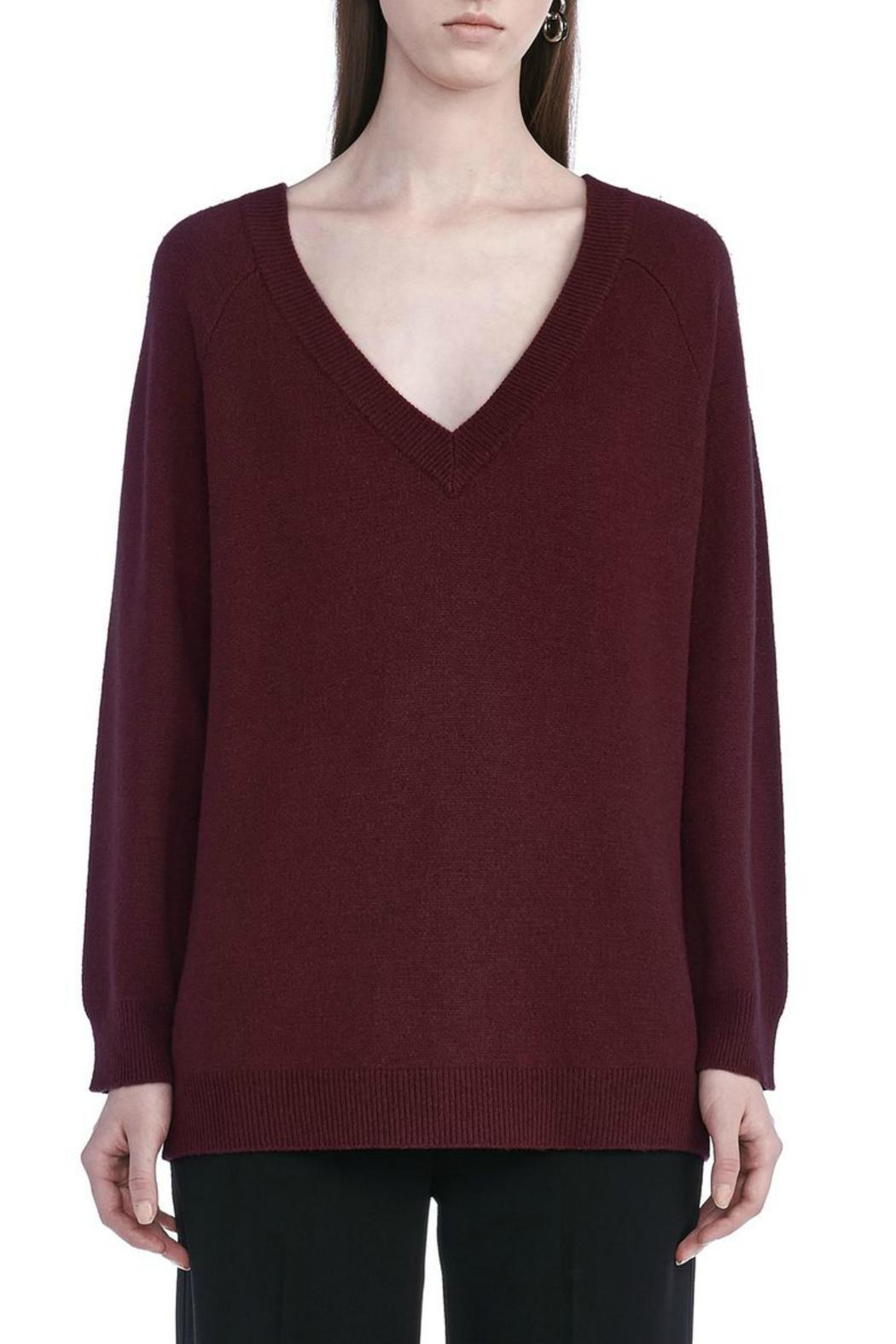 T by Alexander Wang Cashwool V Neck Sweater - Main Image