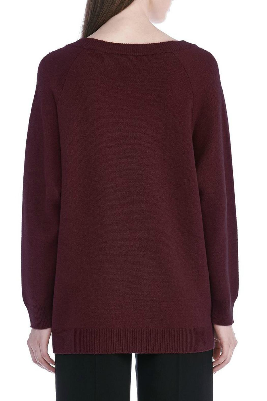 T by Alexander Wang Cashwool V Neck Sweater - Side Cropped Image