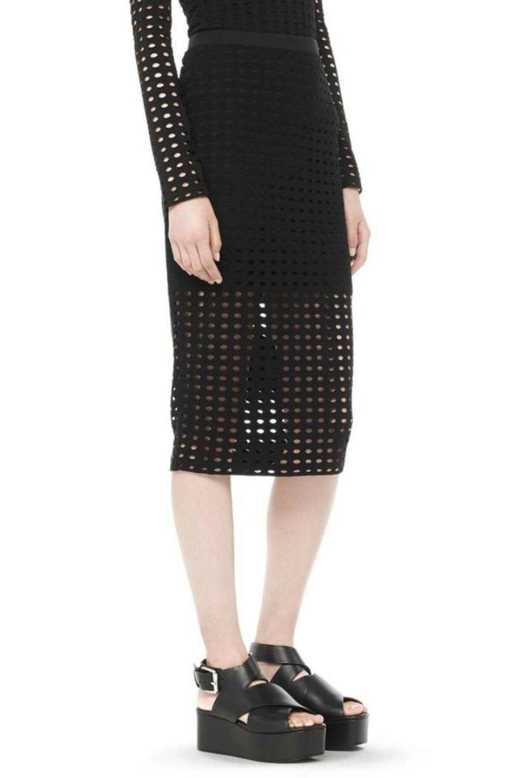 T by Alexander Wang Circular Jersey Skirt - Side Cropped Image