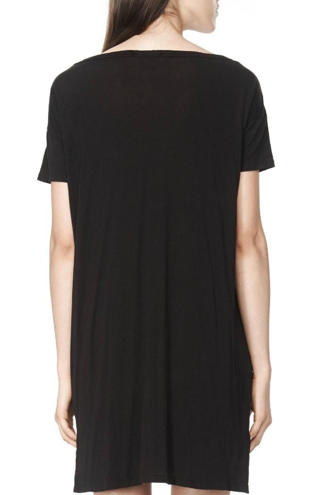 T by Alexander Wang Classic Boatneck Dress - Back Cropped Image