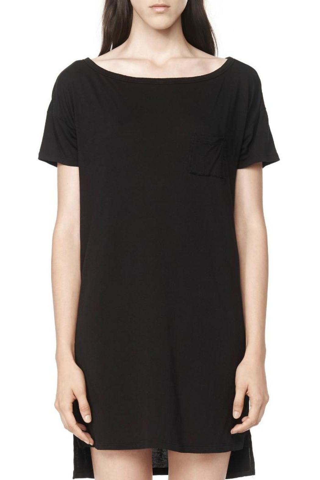 T by Alexander Wang Classic Boatneck Dress - Side Cropped Image