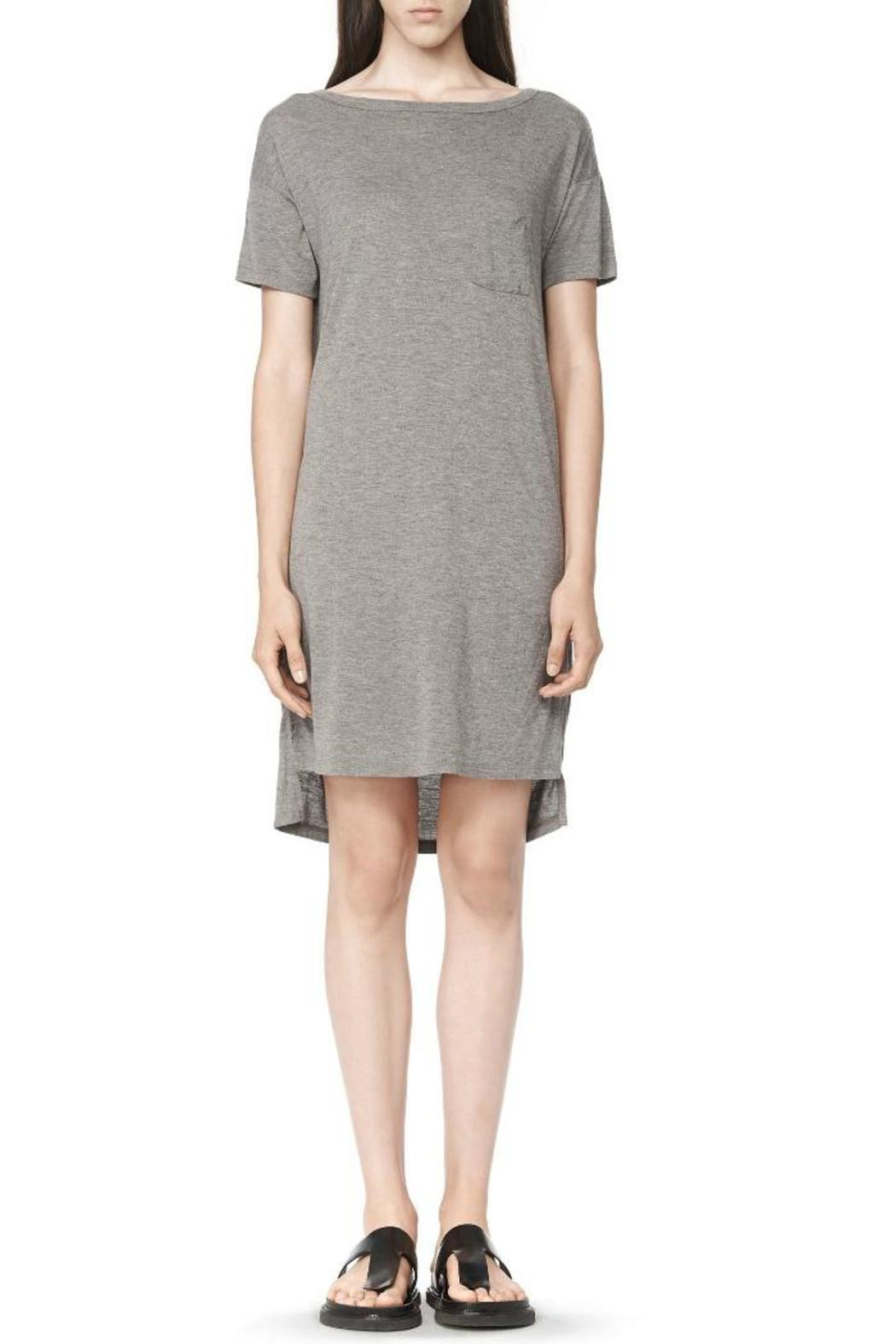 T by Alexander Wang Classic Boatneck Dress - Front Cropped Image