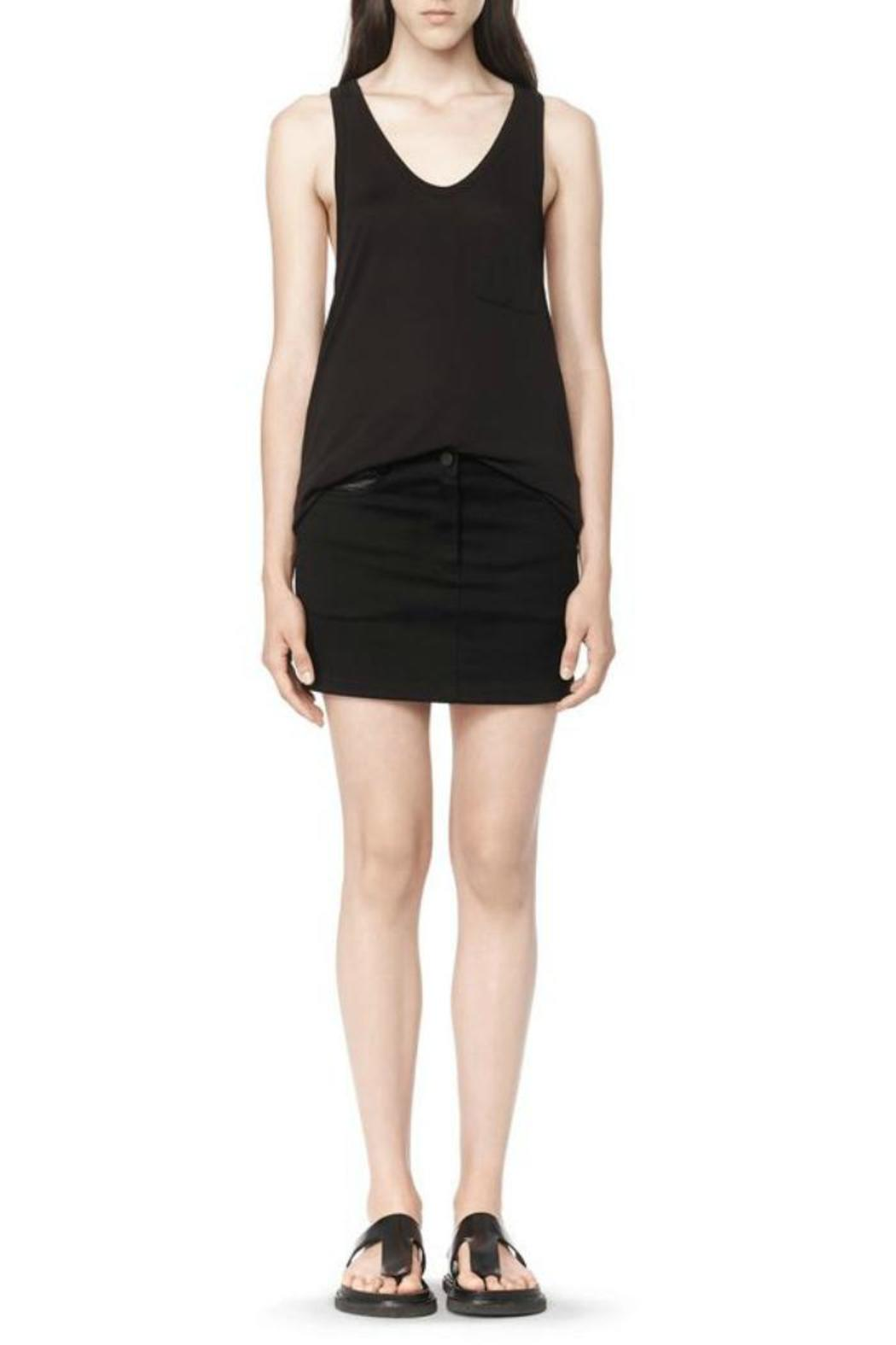 T by Alexander Wang Classic Tank Pocket - Back Cropped Image
