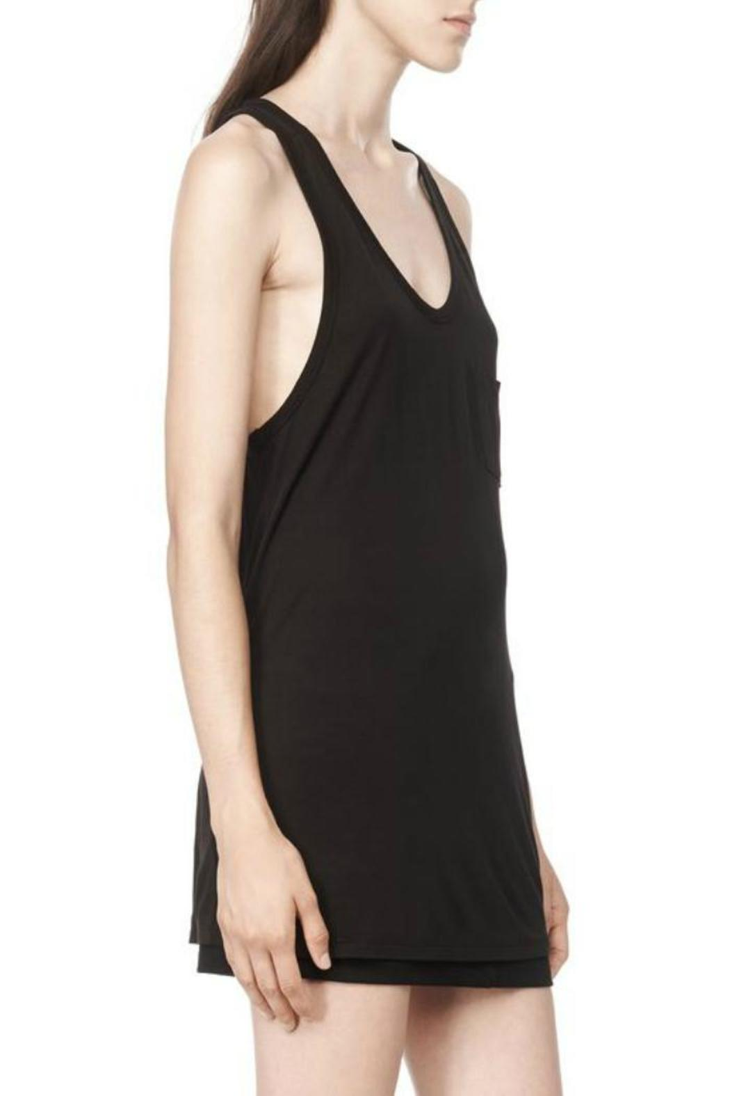 T by Alexander Wang Classic Tank Pocket - Side Cropped Image