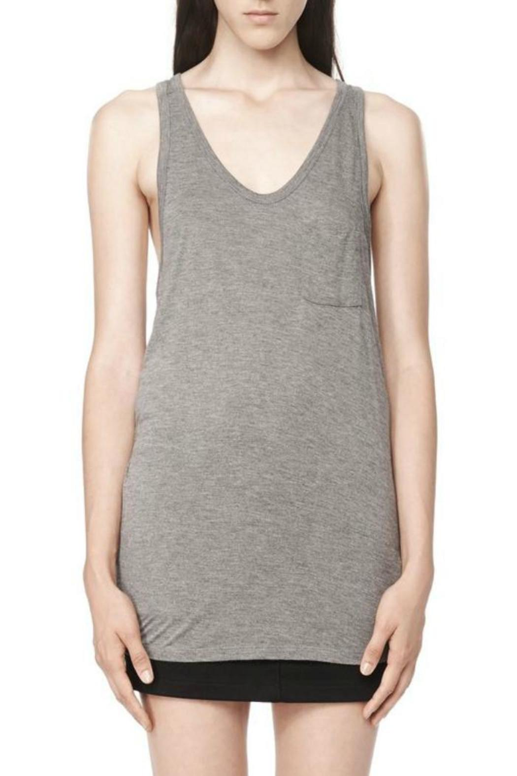 T by Alexander Wang Classic Tank Pocket - Front Cropped Image