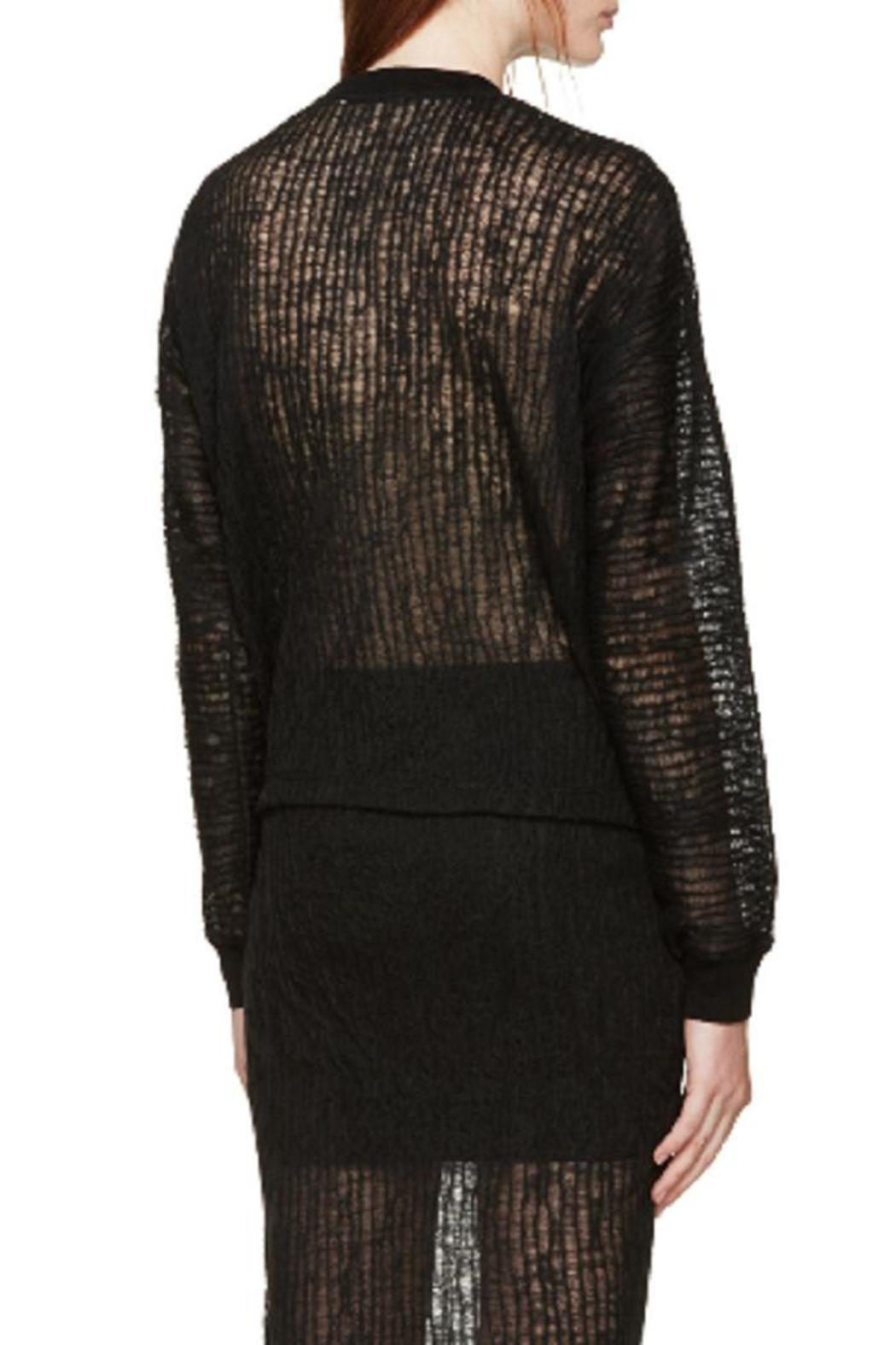 T by Alexander Wang Crinkle Knit Top - Front Full Image