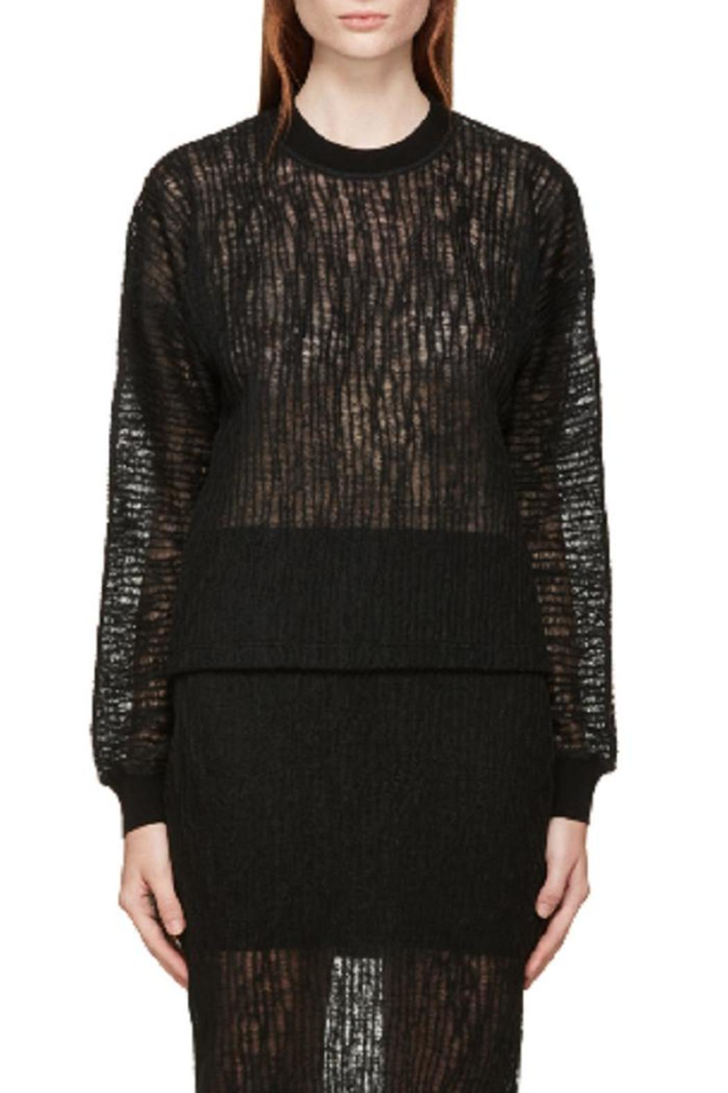 T by Alexander Wang Crinkle Knit Top - Main Image