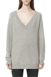 T by Alexander Wang Deep V-Neck Sweater - Front cropped