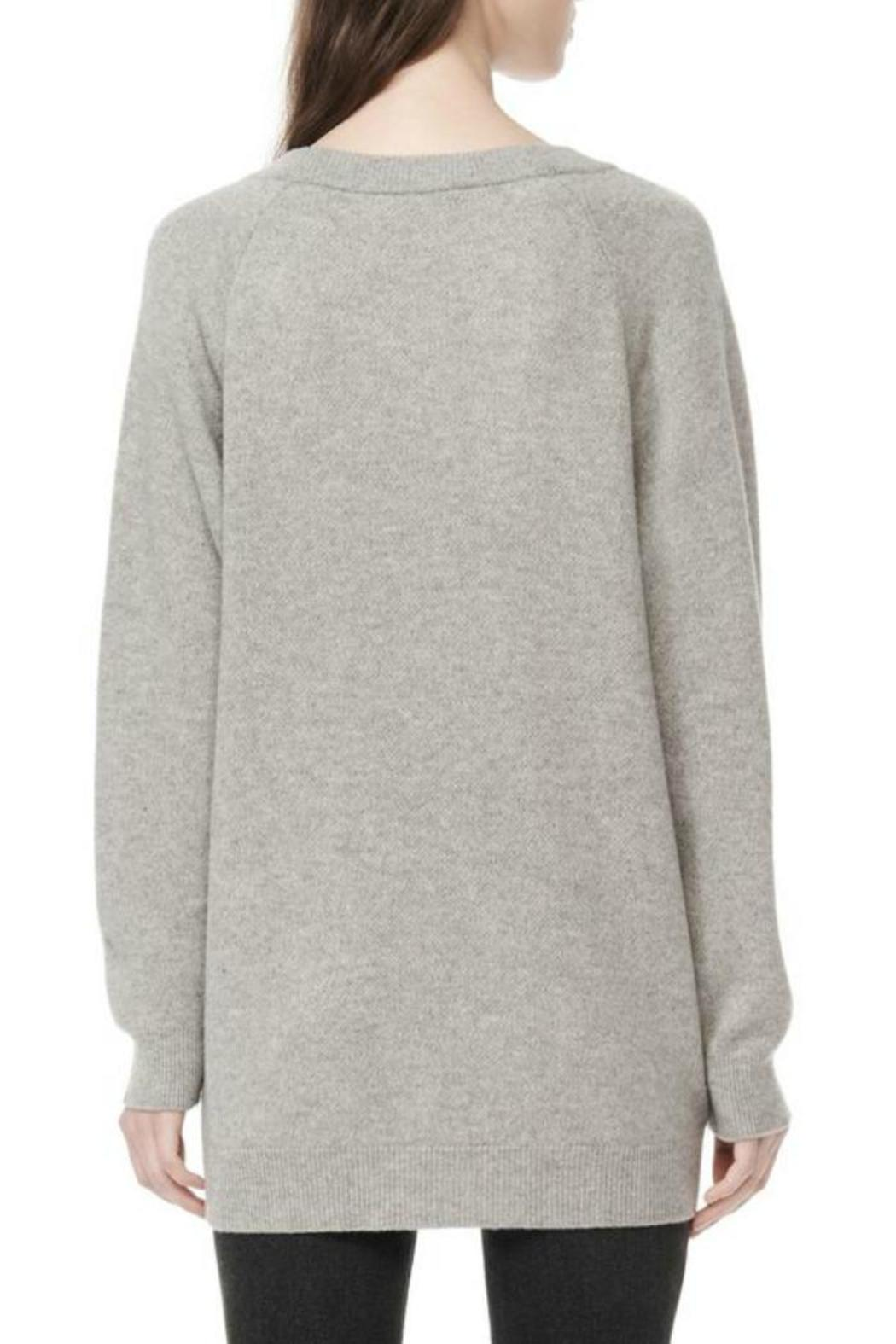 T by Alexander Wang Deep V-Neck Sweater - Front Full Image