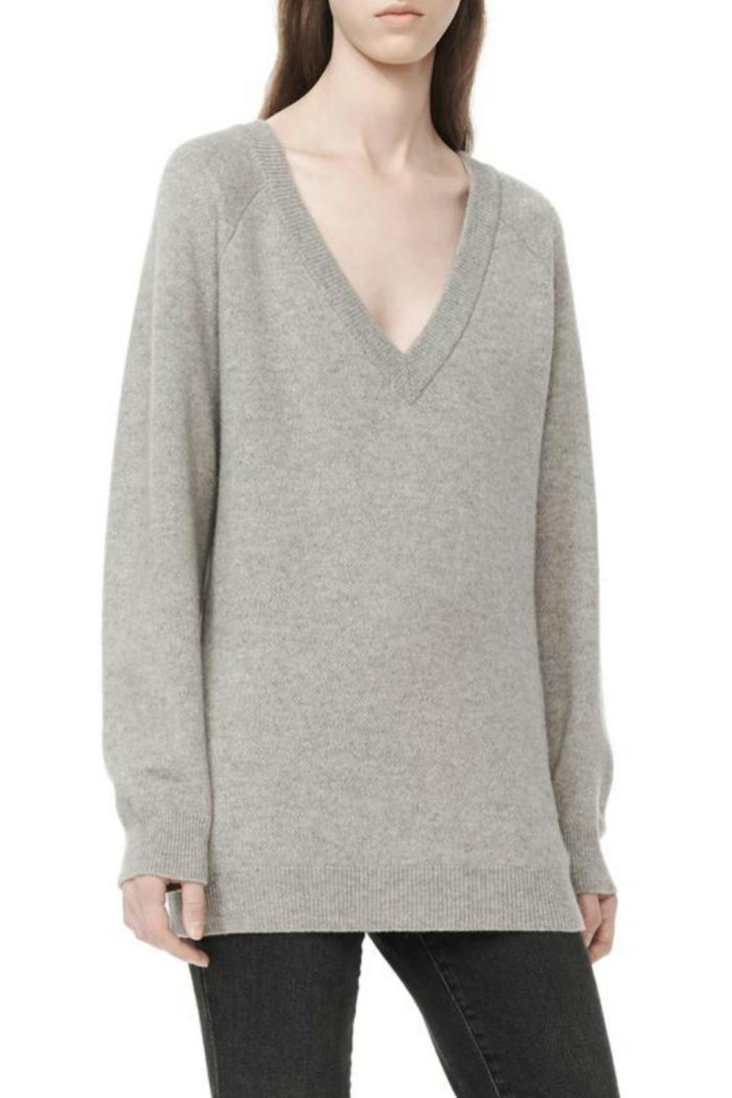 T by Alexander Wang Deep V-Neck Sweater - Side Cropped Image