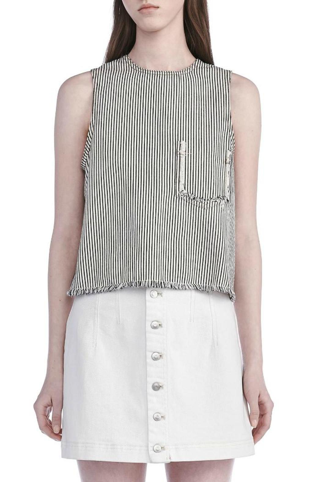 T by Alexander Wang Frayed Crop Top - Main Image