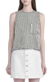 T by Alexander Wang Frayed Crop Top - Product Mini Image