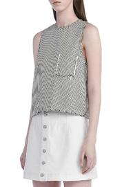 T by Alexander Wang Frayed Crop Top - Front full body
