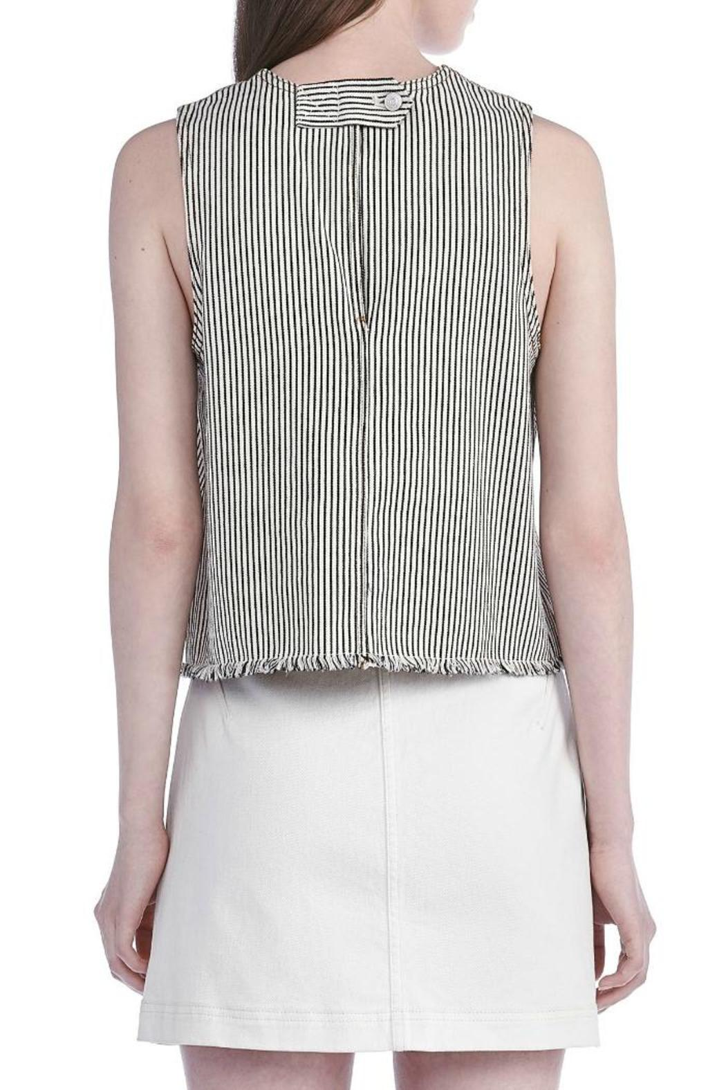 T by Alexander Wang Frayed Crop Top - Side Cropped Image