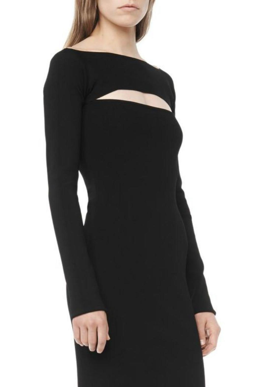 T by Alexander Wang Long Sleeve Bandeau Dress - Side Cropped Image