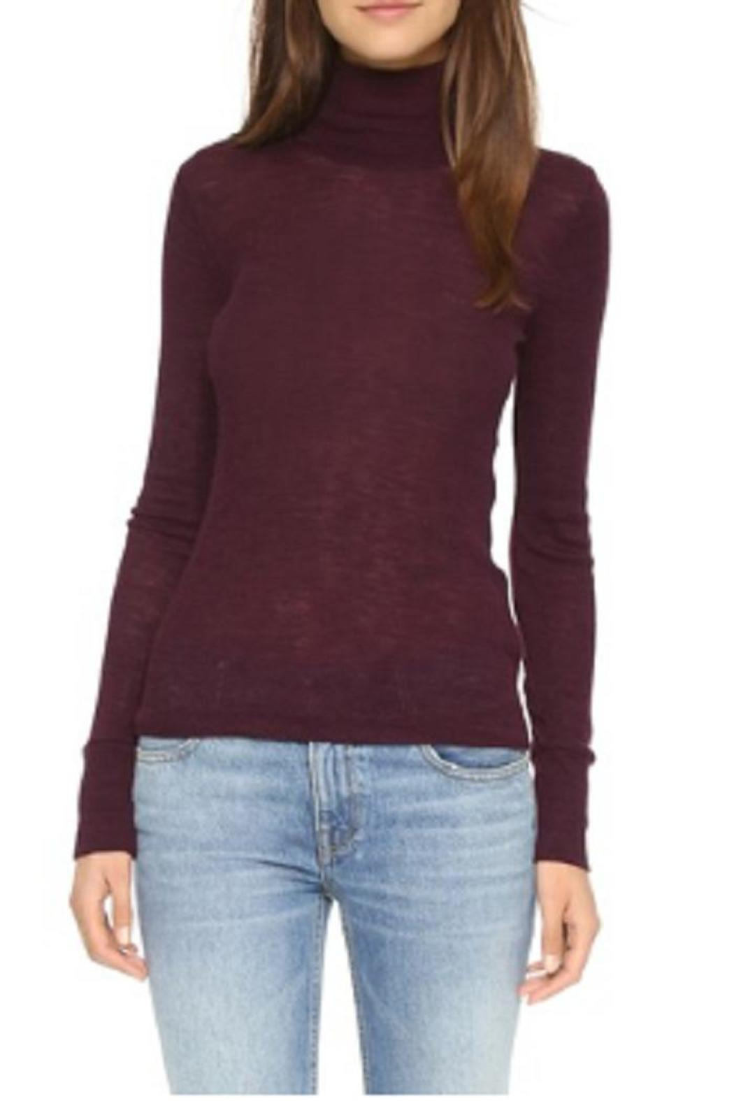 T by Alexander Wang Mock Neck Shirt - Side Cropped Image