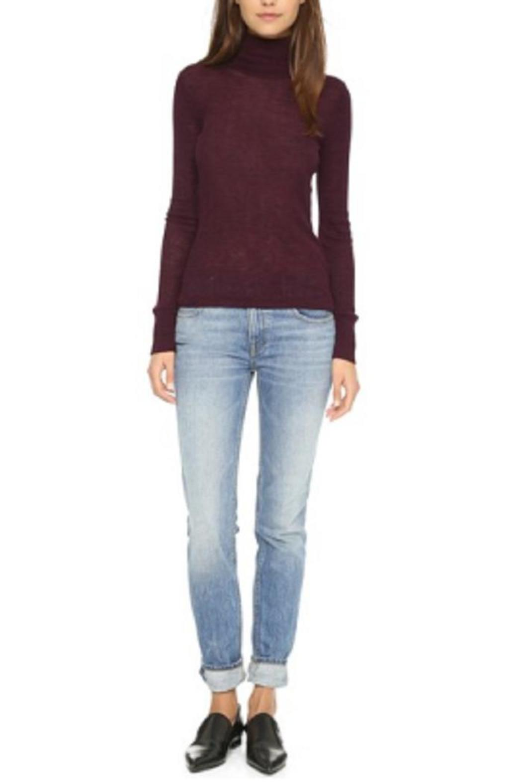 T by Alexander Wang Mock Neck Shirt - Front Cropped Image