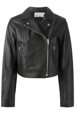 T by Alexander Wang Pebbled Leather Jacket - Product List Image