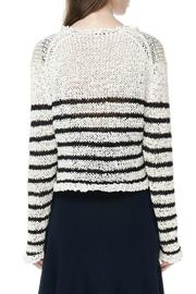 T by Alexander Wang Raw-Edge Cropped Pullover - Front full body