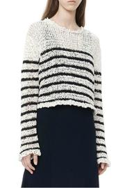 T by Alexander Wang Raw-Edge Cropped Pullover - Side cropped