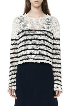 Shoptiques Product: Raw-Edge Cropped Pullover