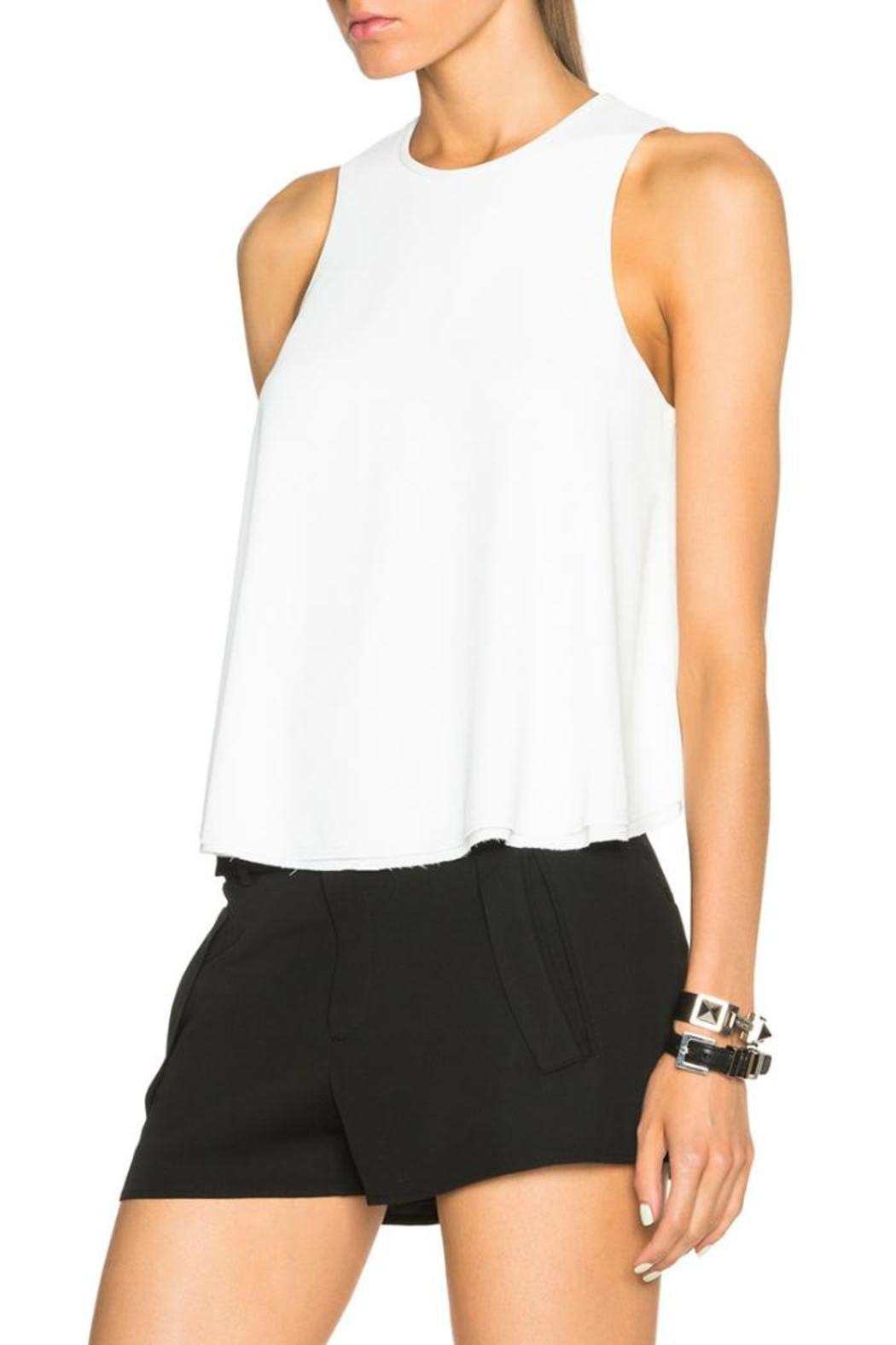 T by Alexander Wang Raw Edge Top - Front Full Image