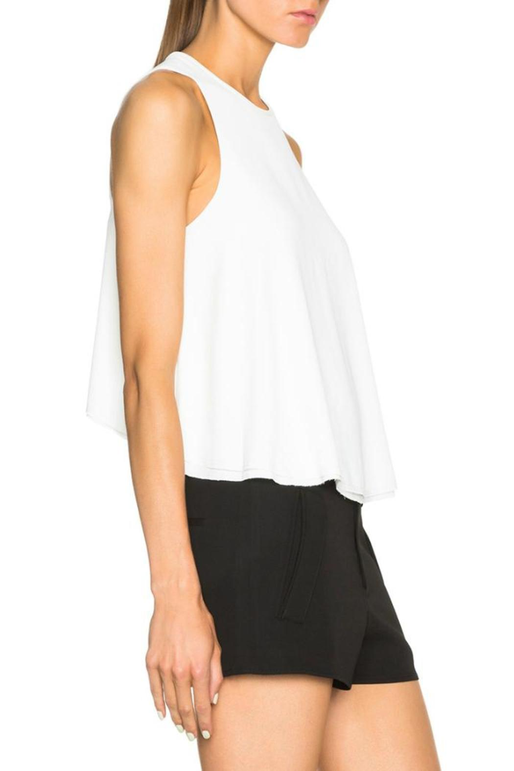 T by Alexander Wang Raw Edge Top - Side Cropped Image