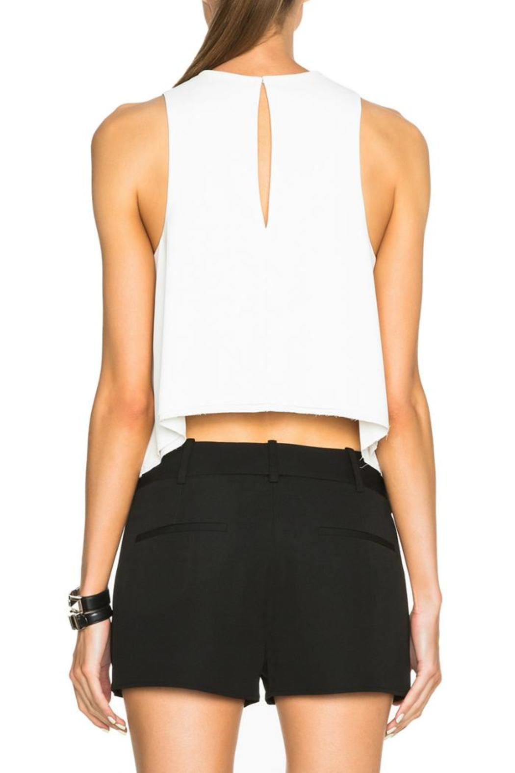 T by Alexander Wang Raw Edge Top - Back Cropped Image