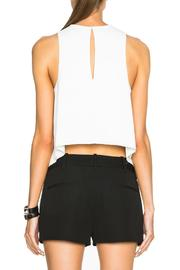 T by Alexander Wang Raw Edge Top - Back cropped