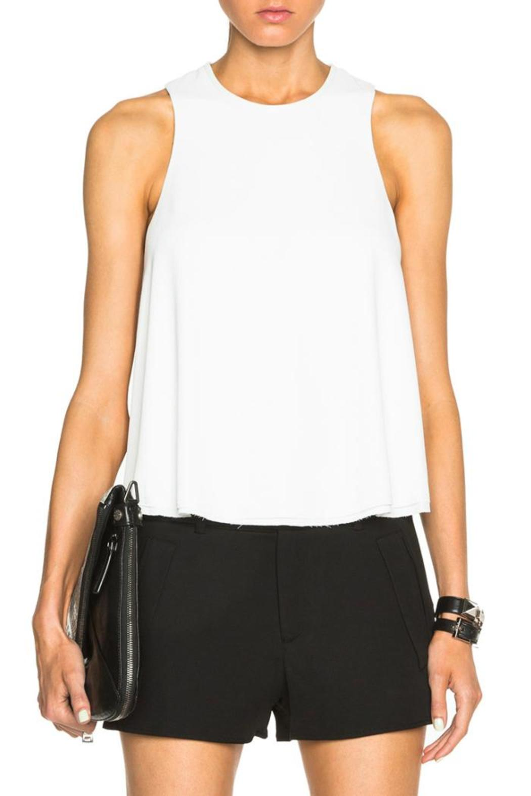 T by Alexander Wang Raw Edge Top - Front Cropped Image
