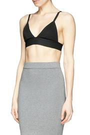 T by Alexander Wang Stretch Pique Triangle Bra - Side cropped