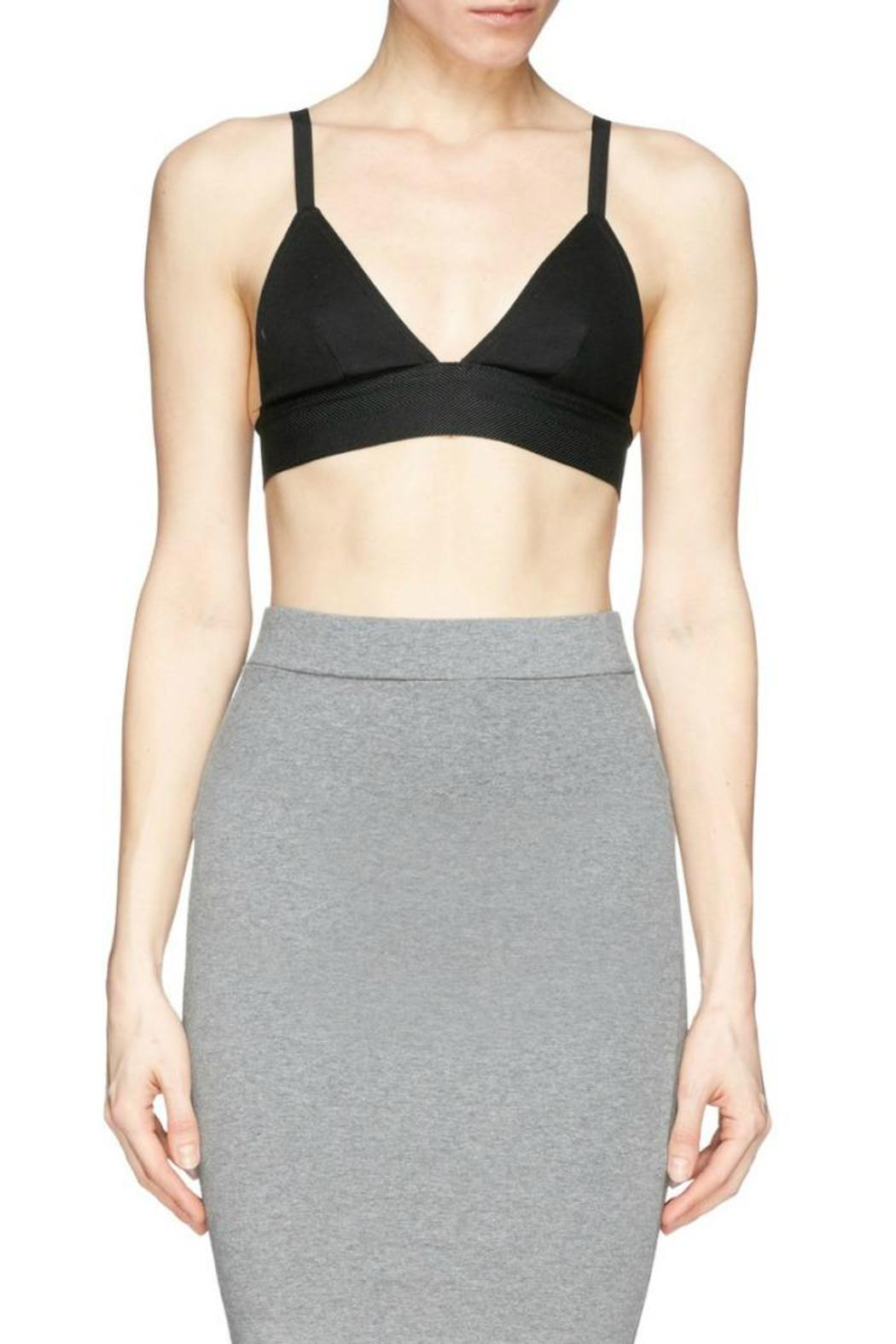 T by Alexander Wang Stretch Pique Triangle Bra - Front Cropped Image