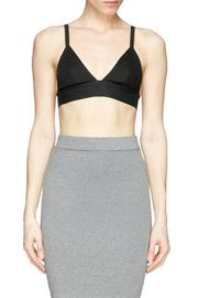 T by Alexander Wang Stretch Pique Triangle Bra - Front cropped