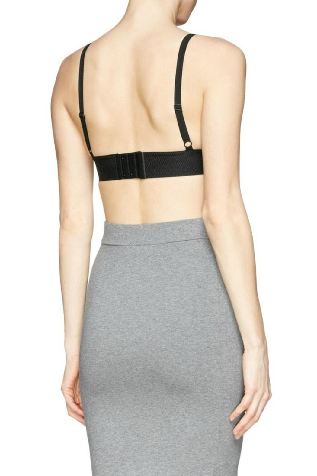 T by Alexander Wang Stretch Pique Triangle Bra - Back Cropped Image