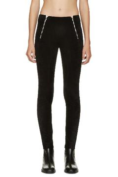 T by Alexander Wang Velveteen Stretch Leggings - Alternate List Image