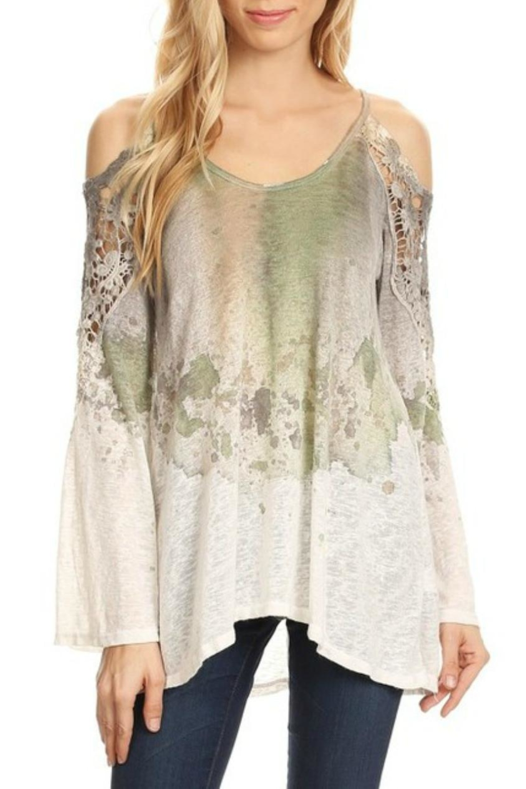 422cd77780d66 T Party Cold-Shoulder Tie-Dye Tee from Wyckoff by Bedford Basket ...