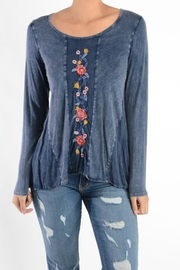 T Party Embroidered Panel Tunic - Front cropped