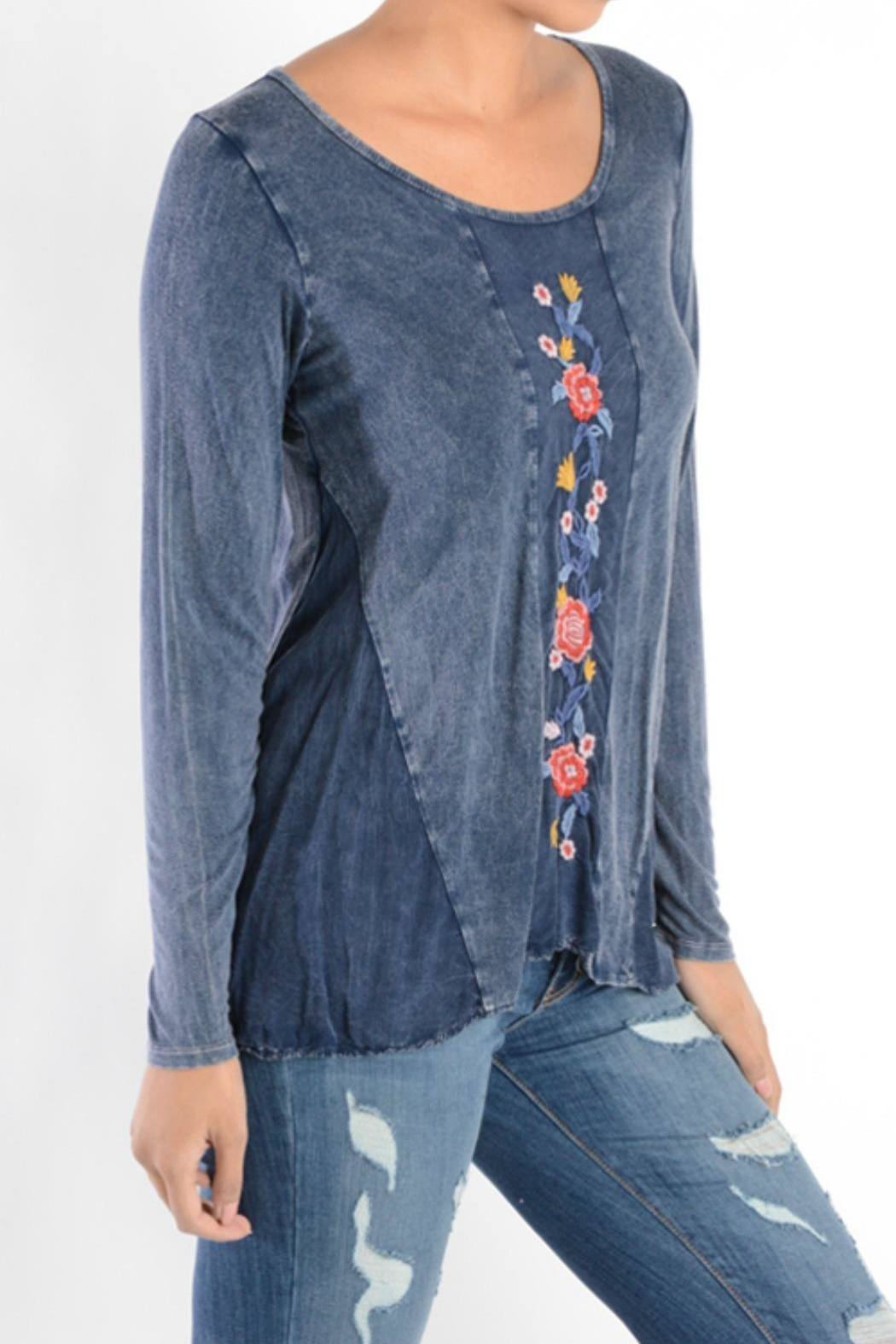T Party Embroidered Panel Tunic - Front Full Image