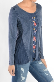 T Party Embroidered Panel Tunic - Front full body