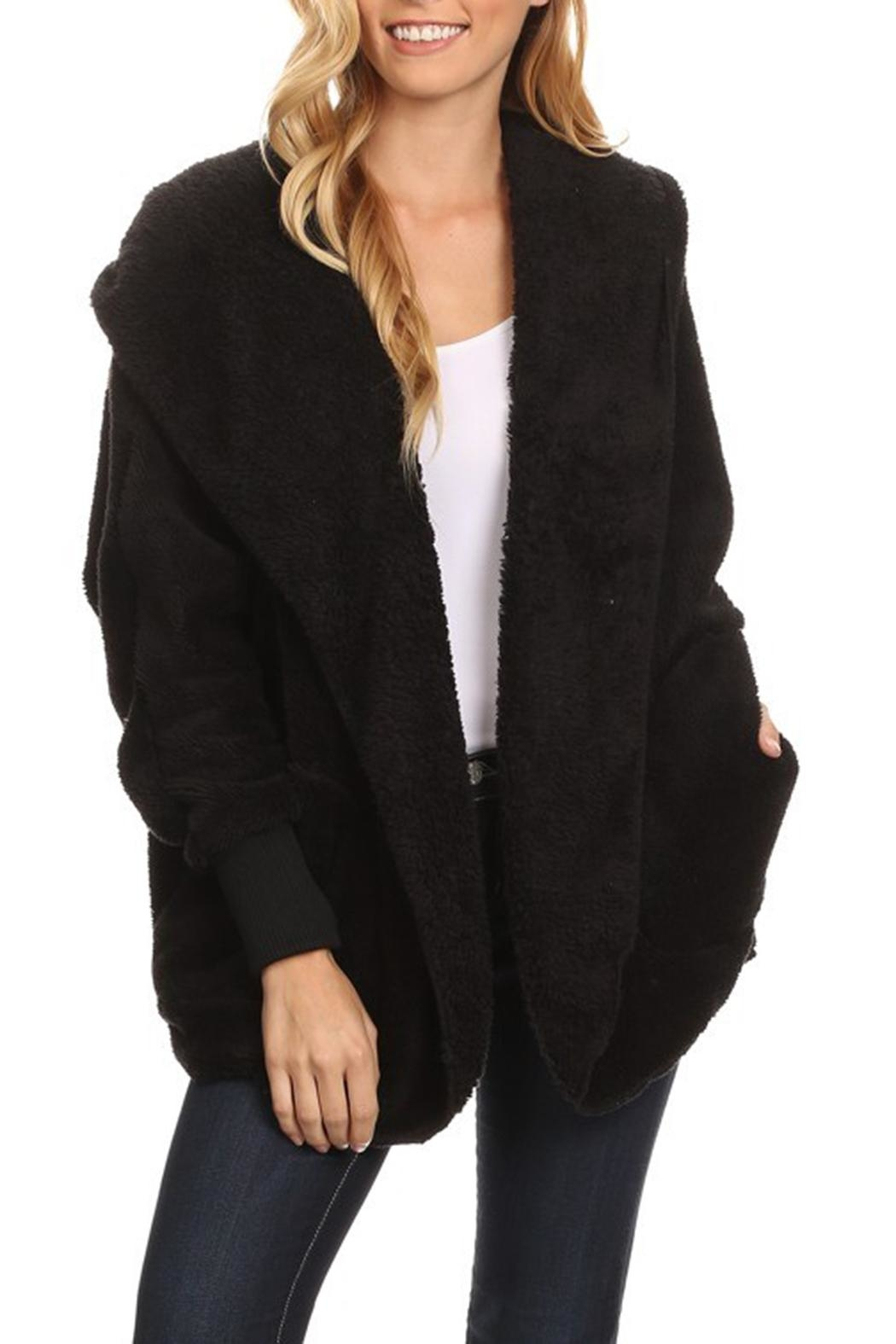 T Party Fuzzy Faux-Fur Jacket - Front Cropped Image