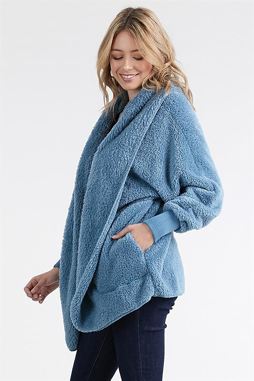 T Party Fuzzy Faux-Fur Jacket - Front Full Image