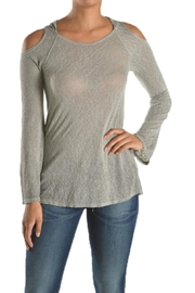 T Party Hooded Cold Shoulder - Front cropped