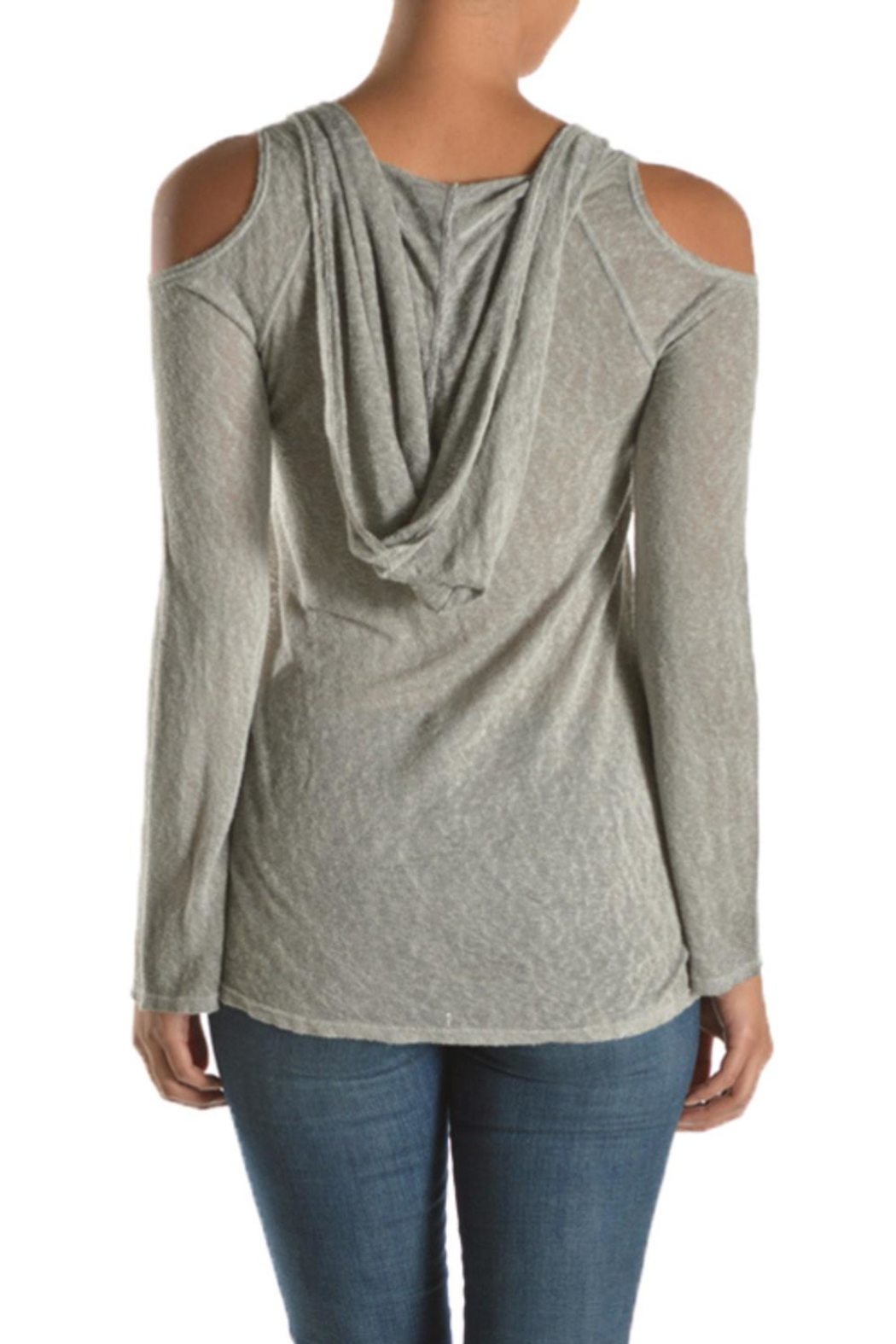 T Party Hooded Cold Shoulder - Front Full Image