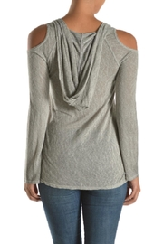 T Party Hooded Cold Shoulder - Front full body
