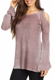 T Party Waffle Hoodie Tunic - Product Mini Image