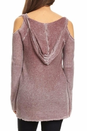 T Party Waffle Hoodie Tunic - Side cropped
