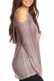 T Party Waffle Hoodie Tunic - Front full body