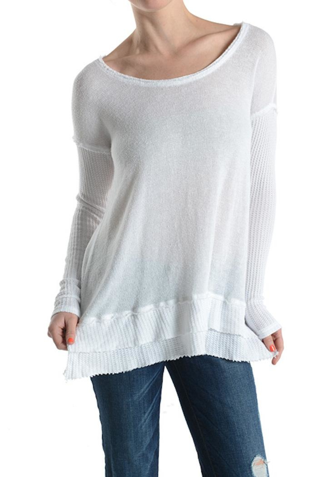 T Party Waffle Knit Top - Main Image